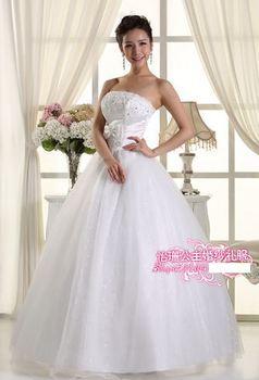 345 vestido de noiva 2014   fashionable sexy appliques beadings white   bridal wedding dress  bride bridal gown dresses