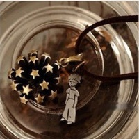 Free Shipping!Wholesale Fashion Jewelry individuality The little prince rivet Star Flower   Punk Pendant Necklace  A185