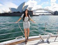 FREE  SHIPPING 2013 new fashion O neck hlaf sleeve pencil Dress sticking Evening black and white print Bandage  Dresses on sale