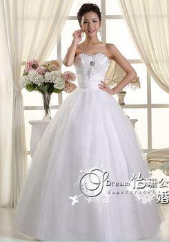 348 vestido de noiva 2014   fashionable sexy beadings elegant flowers   bridal wedding dress  bride bridal gown dresses