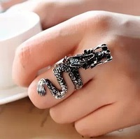 Promotion! Wholesale! Min.order is $10(mix order)Freeshipping/Fashion personalized vintage dragon ring SR037