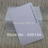Free Shipping New Blank PVC RFID EM4100 EM410X 125Khz Proximity ID Cards 0.8mm Thin Credit Card,10pcs/lot
