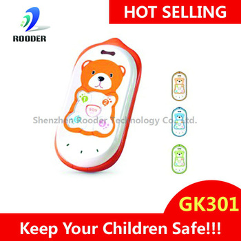 Free Shipping GPS tracker kids cell phone GK301 CUTE quadband children phone web-based GPS tracking system protect our kids