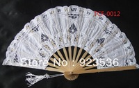 Свадебный зонтик 30pieces/lot Hot Item colorful Handmade 100% cotton bamboo new princess Fan
