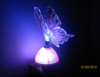 Hot Sell Energy Saving LED Lamp Butterfly Night Light Free Shipping