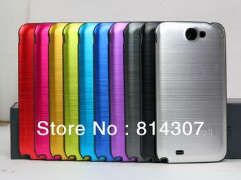 Aluminum Metal back cover battery door case (Black Frame)For Samsung Galaxy Note 2 II N7100 I317 T889 I605 L900