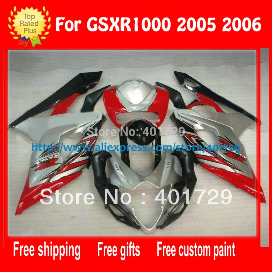 Black Bodywork Kit 05 Fairings White For Suzuki Fairing 06 Body Kits