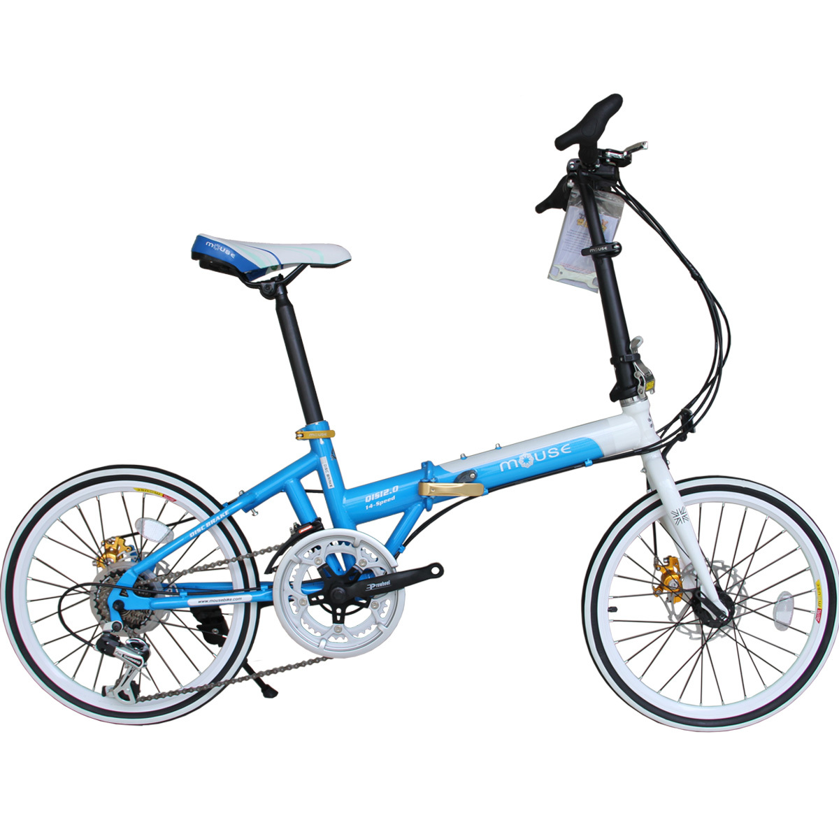 Squirrel 20 folding bike bicycle double disc 2.0 14 road bike automobile race double quick release(China (Mainland))