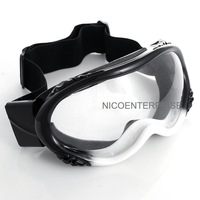 Outdoor motorcycle helmet goggles cross country skiing windproof mirror goggles black and white transparent lens