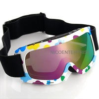 Motorcycle helmet goggles cross country skiing windproof mirror goggles child anti-uv colorful