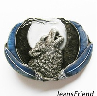 2013 European and American retro style / moonlight wolf skins buckle head free shipping