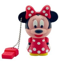 Free Shipping 4GB 8GB 16GB 32GB 64GB Micky & Minnie Mouse USB 2.0 Flash Memory Pen Drive Stick 100% Full Capacity