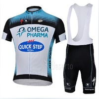 FREE SHIPPING 2013 quick step TEAM Outdoor Sports High Quality Cycling wear Bicycle  Short Sleeve Jersey+bib Shorts