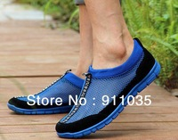 Free shipping/Summer hollow out breathable mesh shoes casual shoes men's shoes a lazy person