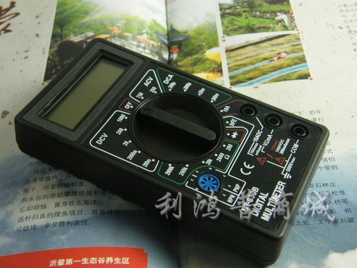 Free shipping!!! DT830B Digital multimeter the multimeter, measure voltage diode current resistance(China (Mainland))