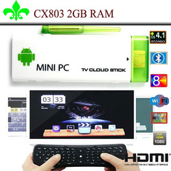 G-sensor keyboard and (2GB ROM) CX-803 II Android Jeally beans Google TV Box RK3066 2G / 8G BT HDMI external antenna Bluetooth(China (Mainland))