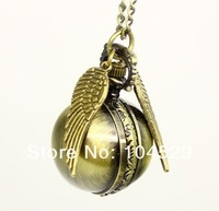 Harry potter snitch necklace watch pocket watch