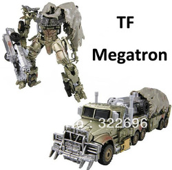 Free Shipping Transforming Robots Megatron Leader Autobots Kid's Chidren kids Car Gift Toys(China (Mainland))