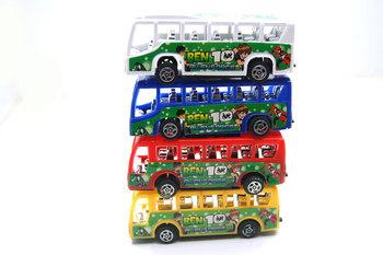 Toy car model 10cm mini bus bus 4 100g