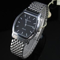 Fashion barrel-type male watch ultra-thin male table steel strip men's watches watch