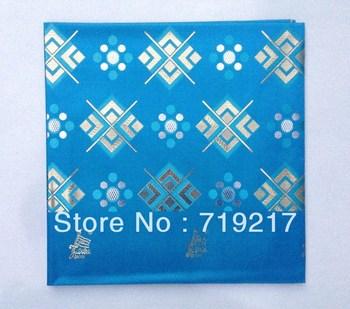 Free shipping Jubilee headtie,african gele head tie,Double metallic yarn headtie,very good quality amazing design T-Blue headtie