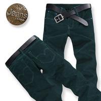 autumn fashionable casual corduroy plus size plus size stripe flannelette straight trousers  free shipping