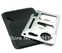 NEW 11 in 1 Survival Outdoor Multi Camping Tool Credit Card Knife Drill Saw Driver