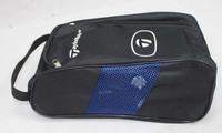 Golf Shoe Travel Storage Ventilated Tote Bag - Black send pattern randomly  ID:2013041402
