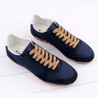 2013 men's breathable skateboarding shoes male casual shoes fashion color block decoration tassel shoes