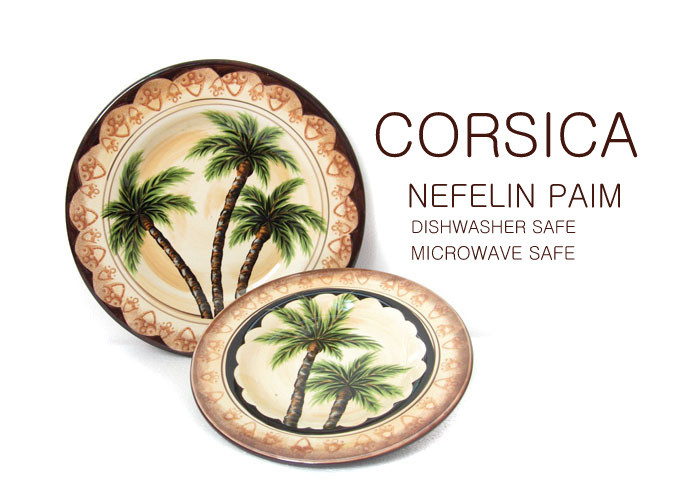 Corsica ceramic tableware palm tree plate series western dish(China (Mainland))