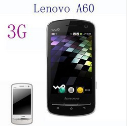 Lenovo A60 3G WCDMA+GSM Android 2.3 Wifi GPS Smart Phone Support Russian(Black Color)