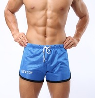 2013 free shhipping  male sports pants moisture wicking fitness sports shorts mesh breathable pants aro shorts pants