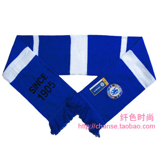 Chelsea team logo knitted embroidery yarn scarf fans scarf football autumn and winter scarf muffler