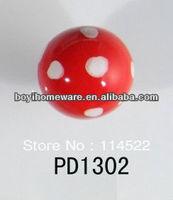 hand painted polka dot round ceramic knobs furniture knob wardrobe cupboard knobs drawer dresser knobs cabinet pulls PD1302