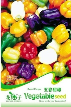 Free shipping Family pack vegetable seeds colorful sweet pepper seeds 20 bag