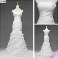 Free shipping 2013 Luxurious Sheath Lace Mermaid Top Quality Real Sample Designer Wedding Dress
