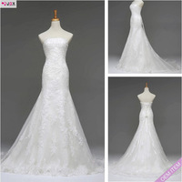 Free shipping 2013 New Arrival Maggies Elegant Sheath Floor-Length Spaghetti Straps Vintage lace wedding dresses