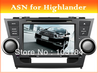 ASN high quality special car dvd player for TOYOTA Highlander car audio radio with GPS navigation Bluetooth free map card