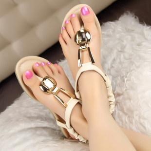 صنادل رائعة Bohemia-flat-sandals