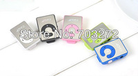 Mini Mirror Clip MP3 Music Player With TF Card Slot Support 1-8GB Micro SD Card+earphone+usb cable+gift box 5sets freeshipping