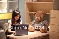 Free Shipping,stuffed teddy bear plush 60cm,girls doll gift,1pc