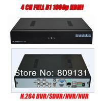 CCTV 4CH Full D1 H.264 DVR Standalone Super DVR SDVR/HVR/NVR Security System with 1080P HDMI,support IP cameras,Wifi