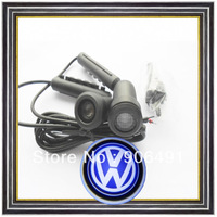 2x5W Ghost shadow light 3D logo welcome light LED laser light for Volkswagen Touareg passat B6 CC Bora