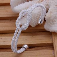 B091 Hot Sell! Wholesale 925 silver bangle bracelet, 925 silver fashion jewelry Bracelet, Knotted Web Bangle