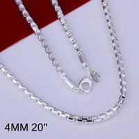 N189 Promotion! wholesale 925 silver necklace, 925 silver fashion jewelry Chain Round Necklace