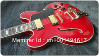 Hot New Best Bigsby Tremolo ES 335 TDSV 1959 Bridge Jazz  Electric Guitar In Hot Red  - No Case EG5