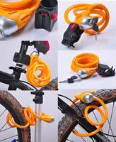 Bicycle Lock bike Round wire circlips Tonyon Steel bicycle cable lock Bike lock with Lock Holder [w02064]