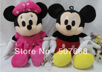 Wholesale & Retail Big Mickey Mouse mickey Minnie 20''(50cm) a pair of plush toys Xmas Gift the Birthday Gift Free Shipping