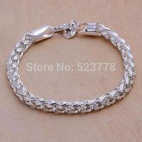 H070 Wholesale! 925 silver bracelet 925 silver fashion jewelry charm bracelet Twisted Circle Bracelet fsdfe bsthtr gsdgrsrd