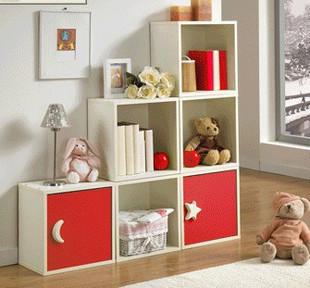 Bookcase bookcase storage cabinet child bookshelf / msg adjuat shipping by sea(China (Mainland))